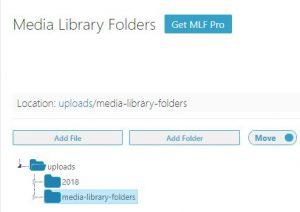 media library folders フォルダー作成 4