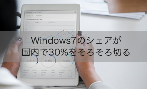【News】Windows7のシェアが国内で30%をそろそろ切る